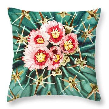 Bloomin' Horse Crippler Cactus Throw Pillow