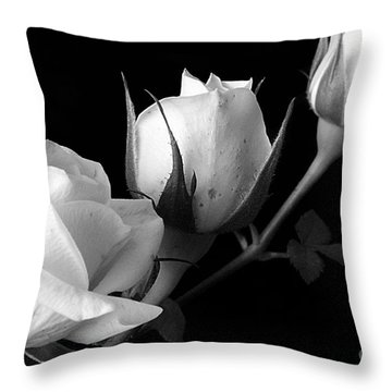 Bloomin' Roses Throw Pillow