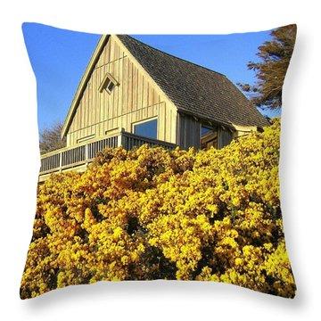 Blooming Bandon Broom Throw Pillow