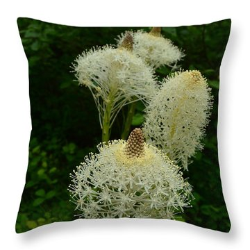 Blooming Bear Grass Throw Pillow