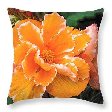 Blooming Begonia Image 1 Throw Pillow