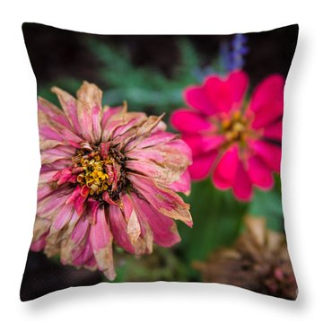 Blooming Decay Throw Pillow
