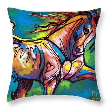 Blooming Everywhere Throw Pillow
