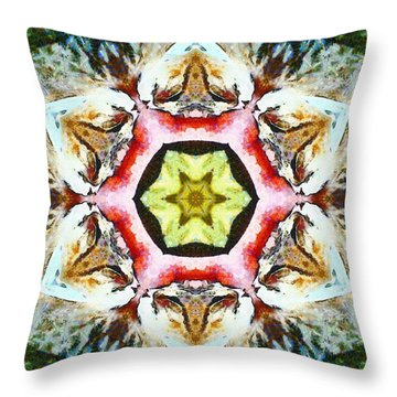 Blooming Fibonacci Throw Pillow