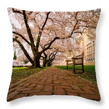 Blooming Giants Throw Pillow