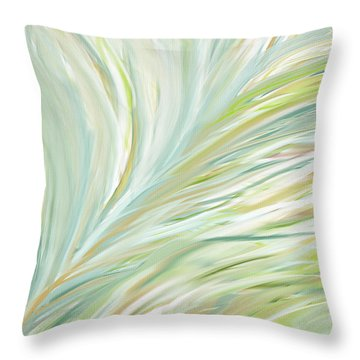 Blooming Grass Throw Pillow by Lourry Legarde