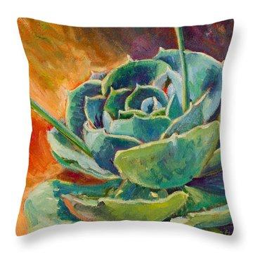Blooming Hen Throw Pillow