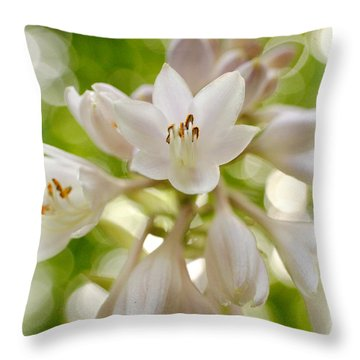 Blooming Hosta Throw Pillow