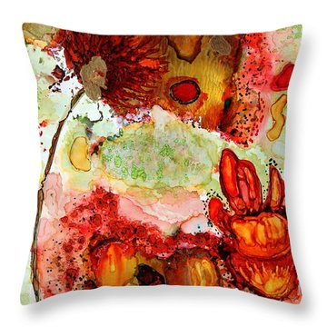 Blooming Impressions.. Throw Pillow