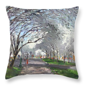 Blooming In Niagara Park Throw Pillow by Ylli Haruni