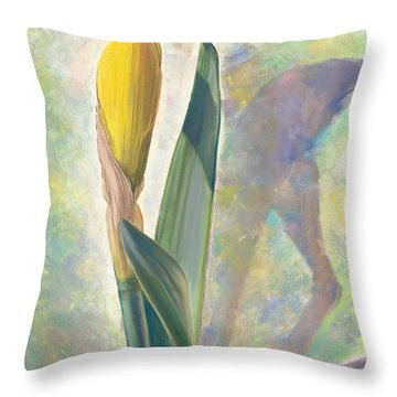 Blooming Iris Throw Pillow