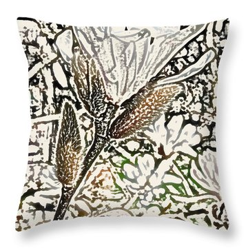 Blooming Throw Pillow by Kjirsten Collier