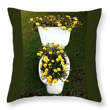Blooming Loo Throw Pillow