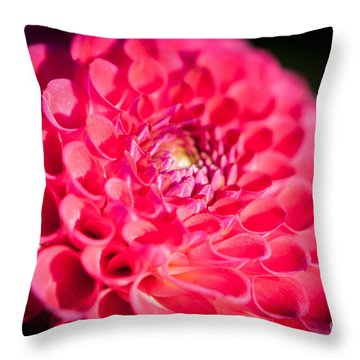 Blooming Red Flower Throw Pillow