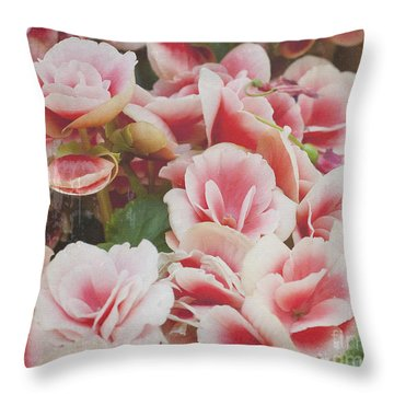 Blooming Roses Throw Pillow
