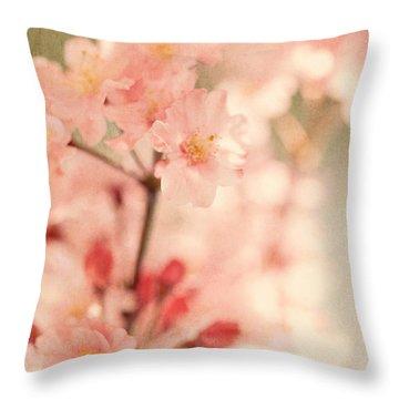 Blooming Season Throw Pillow by Kim Fearheiley