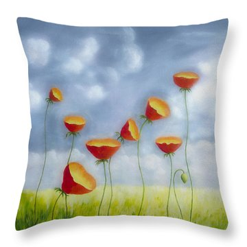 Blooming Summer Throw Pillow by Veikko Suikkanen