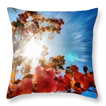 Blooming Sunlight Throw Pillow by Derek Gedney