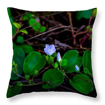 Blooming Vine Throw Pillow
