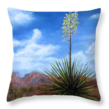 Blooming Yucca Throw Pillow