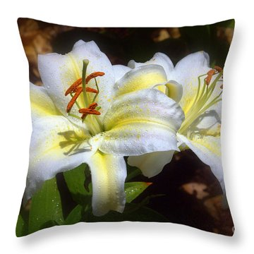 Bloom'n Lilies Throw Pillow