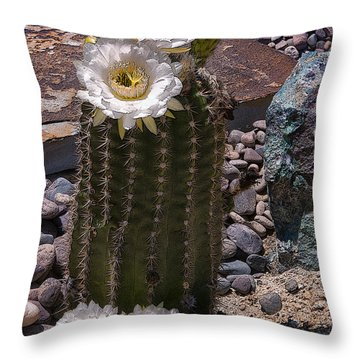 Blooms Everywhere Throw Pillow