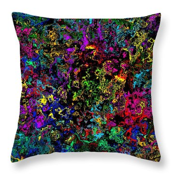 Bloop Nebula Throw Pillow