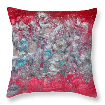 Blossom Abstract Throw Pillow