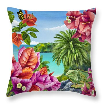 Blossom Bower Throw Pillow by Carolyn Steele