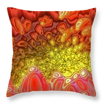 Blossom Digital Workout 1 Throw Pillow by Rudi Prott
