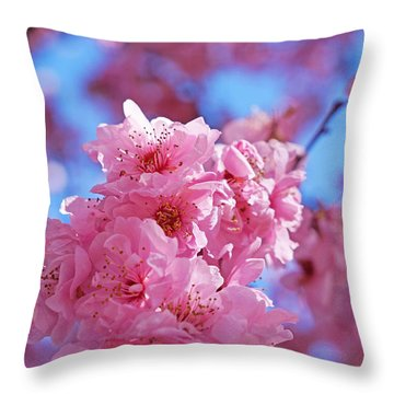Blossom Flowers Trees Art Prints Throw Pillow by Baslee Troutman