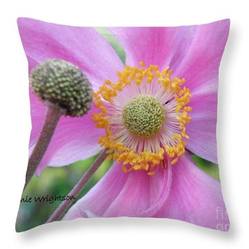 Blossom Throw Pillow by Lainie Wrightson