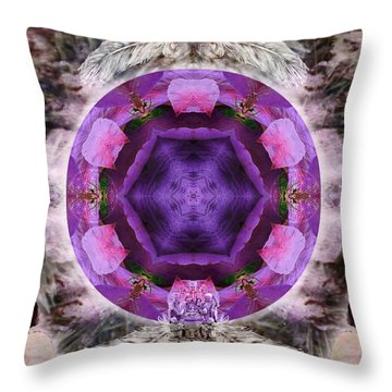 Blossoming Throw Pillow