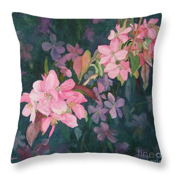 Blossoms For Sally Throw Pillow