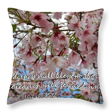 Blossoms Rejoice Throw Pillow