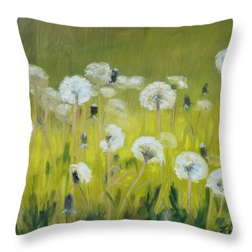 Blow Balls Throw Pillow