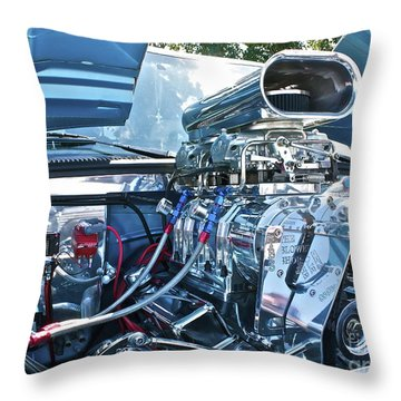 Throw Pillow featuring the photograph Blower Shop by Linda Bianic