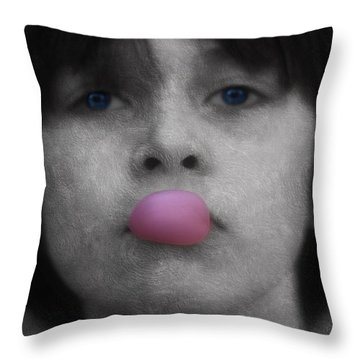 Blowing Bubbles Throw Pillow by Melanie Lankford Photography