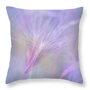 Blowing In The Wind Throw Pillow by Kim Hojnacki