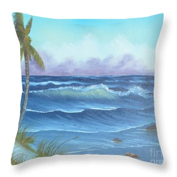 Throw Pillow featuring the painting Blowing In The Wind by Mary Scott