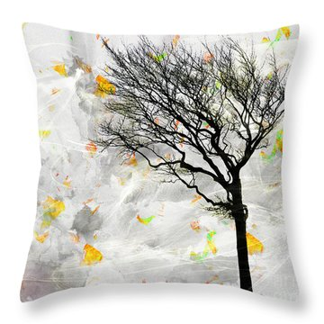 Blowing It The Wind Throw Pillow