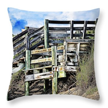 Blowing Rocks Throw Pillow by Bill Howard