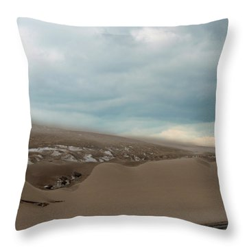 Blowing Sand Throw Pillow