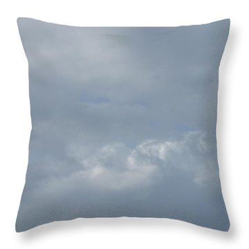 Blowing Smoke Throw Pillow by Ellen Meakin