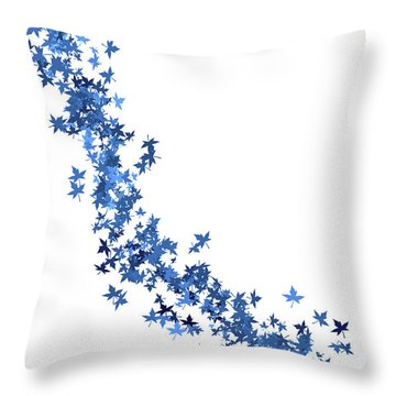 Blowing Winter Leaves Throw Pillow