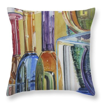 Blown Glass Throw Pillow by Carol Flagg