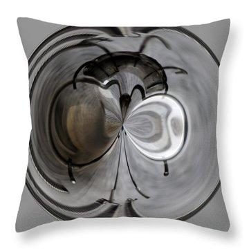 Blown Out Filament Throw Pillow
