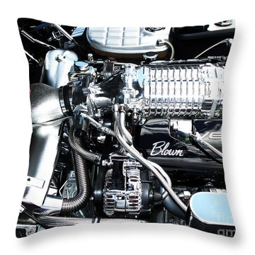 Blown 'vette Throw Pillow by Chris Thomas
