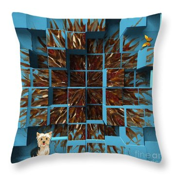 Blowout Throw Pillow by Liane Wright