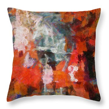 Throw Pillow featuring the digital art Blows Away In The Wind by Joe Misrasi